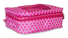 Quatrefoil Shoe Organizer Bag Storage Travel Gym Carry On Duffle Dance Pink