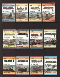 St Vincent 1985 Trains/Locomotives set MNH mint stamps