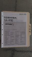 Toshiba sa-r10 service manual original repair book stereo receiver tuner radio
