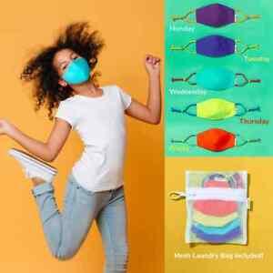 5PCS Reusable Cloth Face Mask Set For Children Dust Masks For Kids