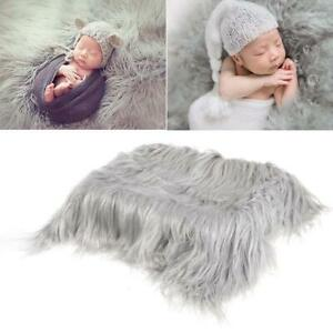 Infant Baby Photo Props Newborn Photography Soft Fur Quilt Mat Blanket Gift O8L2