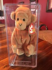 Ty Beanie Baby Bongo The Monkey 3rd Generation Authenticated MWMT MQ!