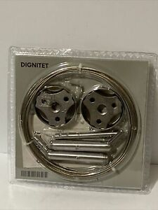 "NEW IKEA ""Dignitet"" Curtain Wire 600.752.95 Stainless Steel 5m/197"""