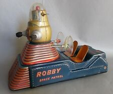 TN NOMURA JAPAN ROBBY SPACE PATROL TIN LITHO VEHICLE BATTERY OPERATED WORKING