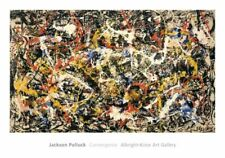 "Jackson Pollock ""Convergence"" Abstract Print Lithograph 28x40"