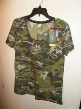 NWT Womens Large Under Armour Early Season Camo Shirt New $40