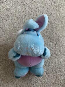 """Vintage Wuzzles Hoppopotamus Blue Hippo Small Plush Toy 8"""""""