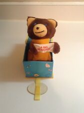 Jack-in-the-box bear, vintage toy, pop up , old