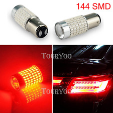 2X 144 SMD Red BAY15D 1157 1142 Car Tail Stop Brake Light LED Bulb 12V DC