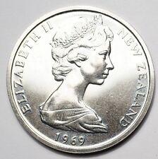NOUVELLE-ZELANDE : 50 CENTS 1969 BICENTENAIRE DU VOYAGE COOK - 50.000 ex.