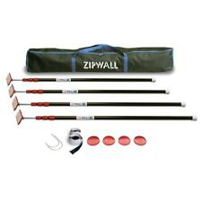 ZipWall Starter Kit Tarp Poles Spring Loaded Strong Lightweight Stainless Steel