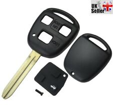 3 Button Remote Key Fob Case TOY43 Blade For Toyota Yaris Corolla RAV4 Hiace 3
