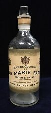 Rare Jean Marie Farina Early 1900's Perfume Factice Bottle Large 24cm