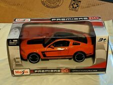 2019 Ford Mustang Boss 302 Orange Die-Cast 1:24 maisto premiere DC 2019 car