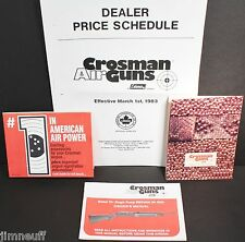 Crosman 781 Pump Rifle Owners Manual, Price List, Ammo & Accs. Brochures All NOS