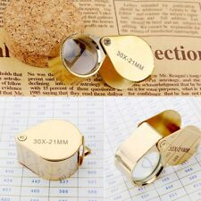 30x 21 mm Glass Magnifying Magnifier Jeweler Eye Jewelry Loupe Loop.Pop