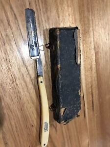 Vintage Flick Cut Throat razor, Made In Germany, Barber,Etched In Original Box
