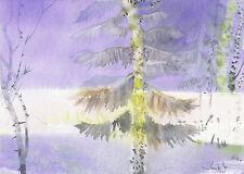 watercolor painting aquarelle original Picture594(30x21)cm PL