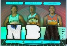 2007 Triple Threads Nick Young, Dwyane Wade, Thaddeus Young Triple Patch 1/18