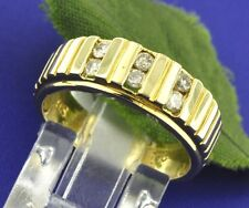 Pre owned 0.30 ct 14k Solid Yellow Gold Ladies Natural Diamond Ring  5.7 Grams
