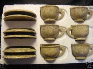 MARBLE ONYX  COMPLETE  TEA SET