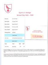 Cyril PONTE bristol city 1932-1939 rara mano originale firmato TAGLIO / CARD