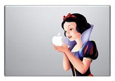 "SNOW WHITE [Holding Apple] Laptop Vinyl Sticker Decal MacBook 17"""