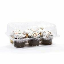 "12 PCs 6 Muffin High Dome 4"" Muffin Halter Box Container Carrier Kunststoff klar"