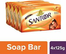 Santoor Sandal and Turmeric Soap Pack of 4 soaps 125g each KU