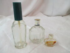 Vintage 3 Perfume Cologne Bottles empty Windsong Myrurgia & other