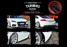 Bodykit Frontspoiler Diffusor Schweller ABS für Audi TTS 8S ABE Schwarz Glanz