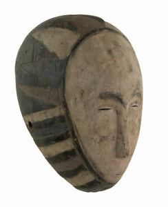 Masque Eket Art coutumier africain 31 cm polychrome Nigéria 17218