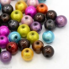 Miracle perles dans violet 8mm 20 pièce de vintageparts DIY-Bijoux