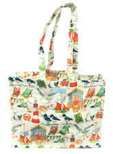 NEW Seaside Lighthouse Seagulls PVC Shopping Beach Bag Large by Emma Ball
