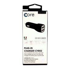 Core Dual USB car charger Black