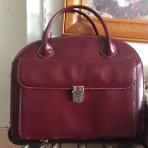 McKlein Granville Top Grain cowhide Leather 15 Wheeled Ladies Laptop Briefcase