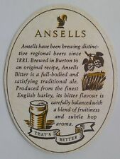 Ansells Best Bitter That's Better Brewed In Burton Est Since 1857 Coaster (B320)
