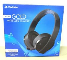Sony 7.1 virtual surround sound Gold Wireless Stereo PS4/PC Gaming Headset,Black