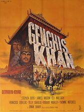 """GENGHIS KHAN"" Affiche originale entoilée (Henry LEVIN / Omar SHARIF)"