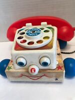 Vintage Fisher Price Chatter Telephone #747 1961 Clicking Phone