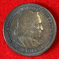 US 1893 Columbian Expo ½ Dollar Half Dollar 50C Silver Dollar UNC Coin! 109
