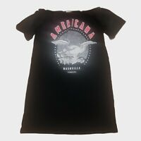 River Island Black Americana Nashville Eagle Print Bardot T Shirt Dress 12 - B74