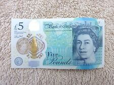 AA46 664611 Bank of England Polymer £5 Pound Note Genuine 2015 Rare Devils Note