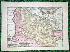 XVIII ème- Le Comté d'Artois Belle Carte par P de La Feuille 26 x 19 Editée 1715