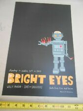 """Rare October 24 2005 Bright Eyes """" Cole Gerst """" Concert Poster Willy Mason Sons"""