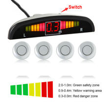 Car Backup Reverse Rear Buzzer Radar System Kit Parking 4 Sensors Sound Alarm