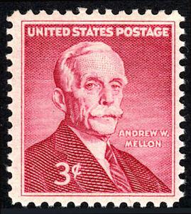 US 1072, MNH. Andrew W. Mellon, U.S. Sec. of the Treasury, financier, 1955