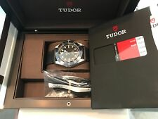 Tudor Black Bay Black Stainless 79220B Leather Band 41MM C. 2018 ETA Movement