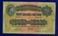 East Africa British 20 Shillings 1951 PIC30B FINE ES-2