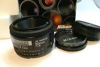 Nikon AF NIKKOR 50mm F1.8 Prime Lens  made in Japan metal mount